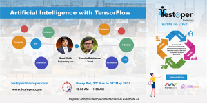 MasterClass -Artificial Intelligence with TensorFlow starts on 27 Mar 2021 @ Virtual