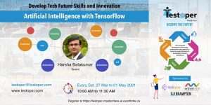 MasterClass -Introduction to Deep Learning with TensorFlow from 25 Sep 2021 @ Virtual